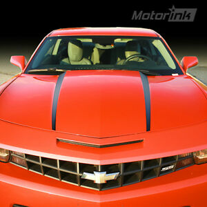 2010 2011 2012 2013 Chevrolet Camaro Hood Side Spears Blackout Stripes Decals