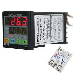 Digital Pid 40a Ssr Thermostat Snr Temperature Controller J S K E Thermocouple