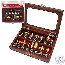 Chifrb15 wb Carbide Router Bit Set 15 Pieces