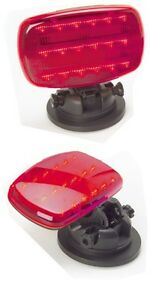 Led Truck trailer farm Red Magnetic Base Towing Clearance Emergency Light