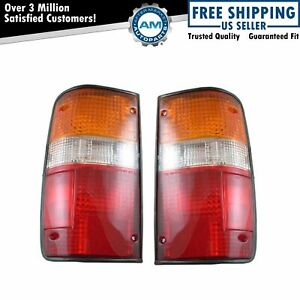 Taillights Taillamps Brake Lights Pair Set Rear For 89 95 Toyota Pickup Truck
