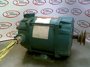 Reliance Electric P56h2302m wt Duty Master Motor 1 2hp 1725rpm 208 230v