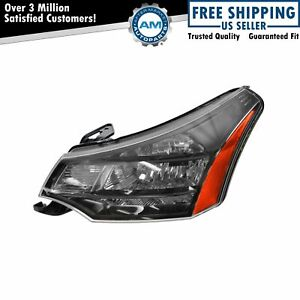 Headlight Headlamp Driver Side Left Lh New For 09 11 Focus W Black Chrome Trim