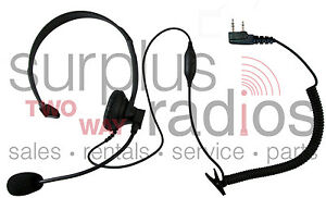Headset For Kenwood 2 Pin Radios Tk3160 Tk372 Tk272 Tk2160 Tk3173 Tk2173 Tk3200