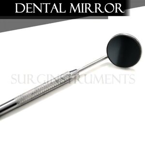 25 Front Surface Dental Mirrors 5 Complete With Handle Surgical Instruments