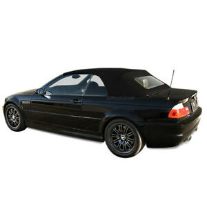 Bmw 3 Series E46 2000 2006 Convertible Top Glass Window Black Stayfast Cloth