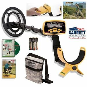 Garrett Ace 250 Metal Detector With Water proof Coil And Camo Treasure Pouch