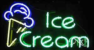 Brand New ice Cream 37x20x3 W logo Real Neon Sign W custom Options 10410
