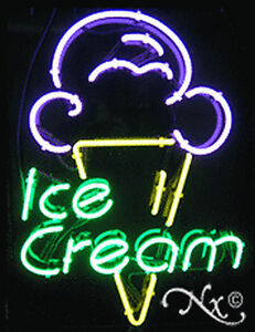 Brand New ice Cream 31x24 W logo Real Neon Sign W custom Options 10408