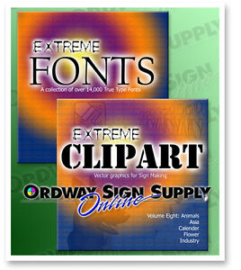 Over 14 000 Fonts And 70 000 Vector Images Extreme Clip Art Graphics Suite