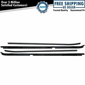 Inner Outer Window Sweep Felts Seals Weatherstrip 4 Piece Kit Set For Buick