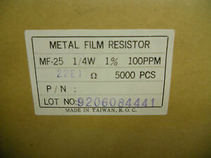Lot Roll Of 5 000 Metal Film Resistors Mf 25 1 4w 1 100ppm Yk 63