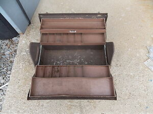 1022 Vintage Kennedy Cantilever Metal Machinist Tool Box