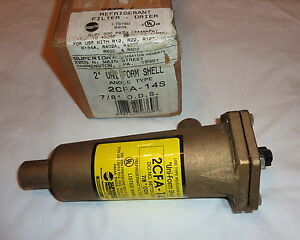 Sherwood Superior 2cfa 14s Refrigerant Filter Drier 2 Brass Shell 7 8 Ods