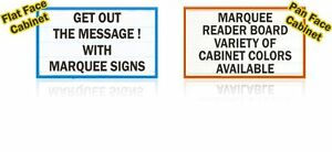 New Single sided 3x8 Marquee Lighted Outdoor Message Letter Reader Board Sign