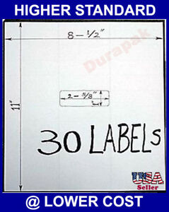 30000 Blank Plain Address Label 2 5 8x1 30 Per Page 1000 Sheets Self Adhesive