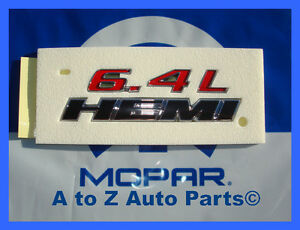 New 2012 2014 Dodge Charger Srt8 6 4 Hemi Fender Emblem Oem Mopar