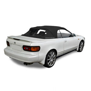 Fits Toyota Celica 1991 1993 Convertible Soft Top Plastic Window Black Vinyl