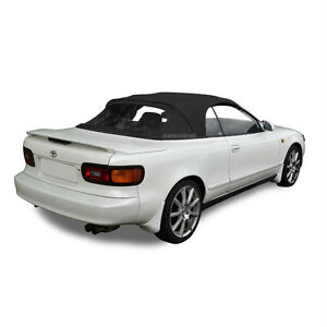 Fits Toyota Celica 1991 1993 Convertible Soft Top Plastic Window Black Cloth