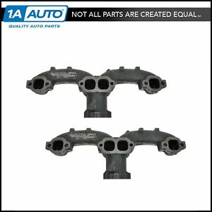 Exhaust Manifold Pair Left Right For Chevy Gmc Van Pickup New Set Of 2