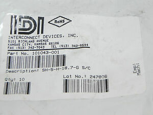 New Idi 101043 001 Test Spring Probe Cat No Sh 5 h 18 7 g qty 9