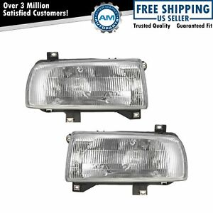 Headlights Headlamps Left Right Pair Set New For 93 99 Volkswagen Jetta