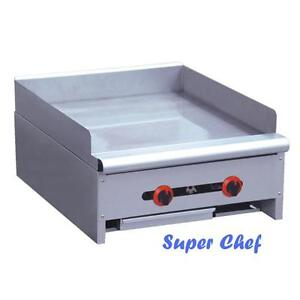 New Griddle Gas 24 Heavy Duty 60 000 Btu Stainless Steel Lp Or Nat Gas