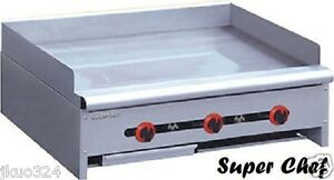New Griddle Gas 36 Heavy Duty 90 000 Btu Stainless Steel Lp Or Nat Gas