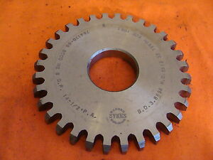 Barber Sykes Colman Gear Cutter Disc Shaper Finishing Non Top 8 Dp 14 5 Pa 32 T
