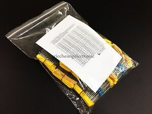 110value 1 2w Metal Film Resistor 2200pcs Assortment Kit 0 1 Ohm 4 7m Ohm New