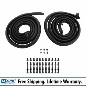 Door Rubber Weatherstrip Seal Pair Set Of 2 For 62 67 Nova 2 Dr Ht And Conv