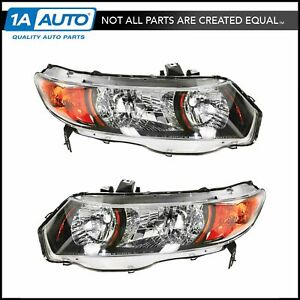 Headlights Headlamps Pair Set Left Right For 06 09 Honda Civic Si Coupe 2 Door