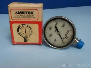 Ametek P550lx 3000 Psi 1 4 Anpt Liquid Filled U s Gauge New