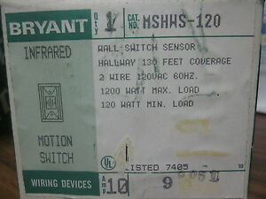 New Bryant Infrared Motion Switch Cat No Mshws 120 mm 769