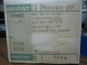 New Bryant Infrared Motion Switch Cat No Msws800 277 mm 771