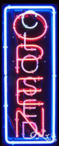 New open closed Vertical 32x13 Border Real Neon Sign W customoptions 11012