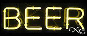 Brand New beer 24x10x3 Real Neon Sign W custom Options 12017
