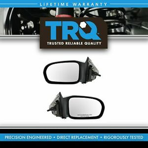 Manual Remote Side Mirror Lh Rh Pair Set Of 2 For 01 05 Honda Civic Coupe