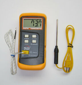 Scientific Digital Thermometer 1 K Type Thermocouple Temperature Sensor Probe