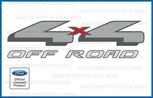 04 08 Ford 4x4 Off Road Decals Stickers F Truck Bed Red Offroad Gray Side