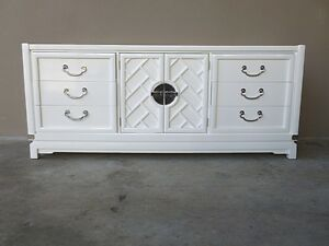 1970 S White Chinese Chippendale Sideboard W Chrome Hardware Out Of Elle Decor