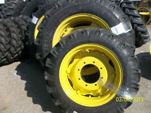 John Deere 3525 Two 14 9x28 Tractor Tires W rims Two 9 5x24 Tires W rims