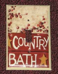 Primitive Country Bath Switch Plate Single Toggle Switchplate