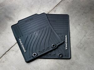 Toyota Tacoma 2012 2013 Double Cab Black All Weather Rubber Floor Mats Oem New