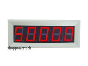Digital Red Led Panel Frequency Speed Meter Tachometer