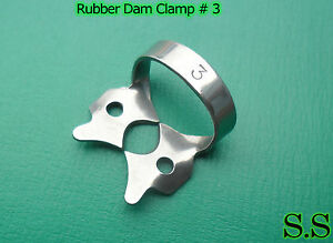 24 Endodontic Rubber Dam Clamp 3 Surgical Dental Instruments