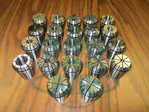 22pcs set Er32 Collet Set Complete Sizes Including All 16th 32nds new