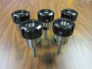 Er32 Collet Chucks 1 2 x2 W Straight Shank stub Length Shank 5pcs tool Holder