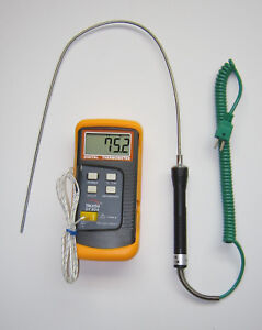 K type Thermocouple Thermometer W 19 Stainless Steel Probe Insertion Sensor Tc5