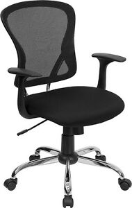 Lot Of 12 Black Mesh Fabric Computer Office Desk Chairs